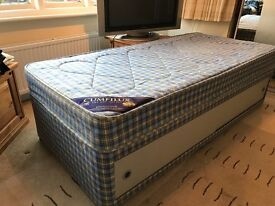 Single bed with mattress and under bed storage. Cumfilux Good condition