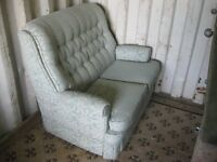 PRETTY COTTAGE STYLE PALEST GREEN 2 SEATER SOFA. IN GOOD ORDER. COMFORTABLE. VIEWING/DELIVERY POSS