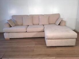 Next Beige corner sofa with free delivery within London