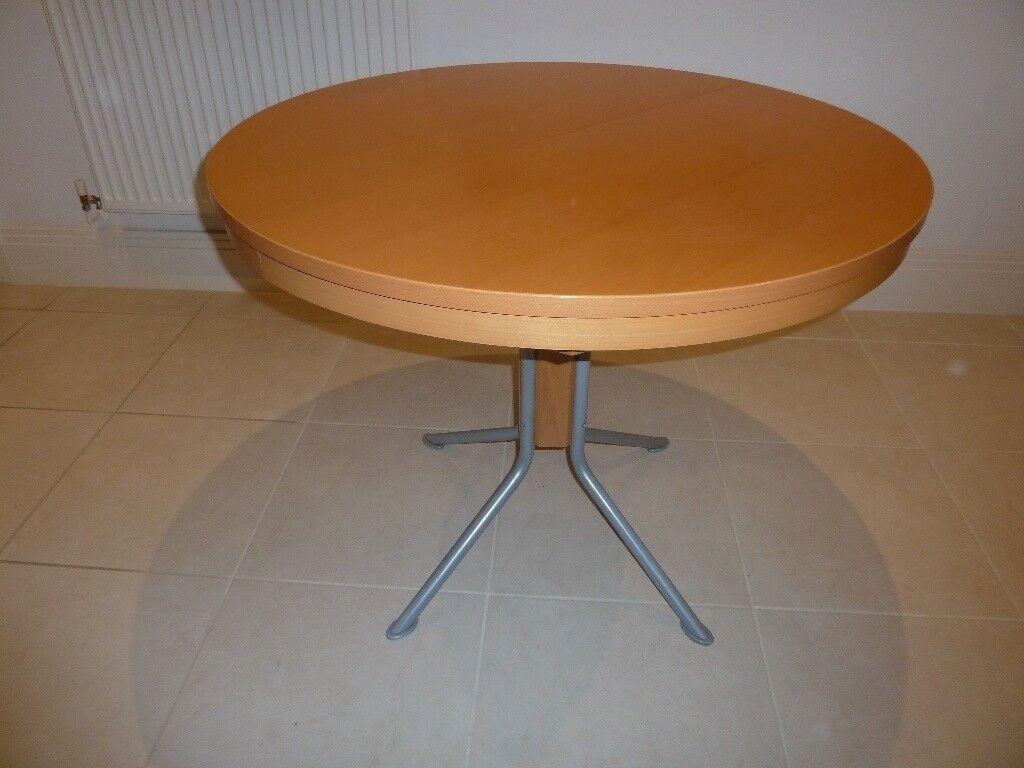 john lewis extending beech kitchen table and 3 matching