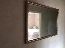 Retro bevel gold mirror