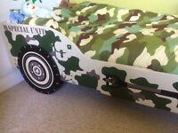 Child's wooden safari jeep bed