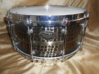 "World Max Classic hammered bronze 14 x 6 1/2"" snare drum"
