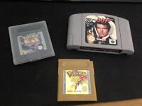 Goldeneye N64 , Pokemon gold and Trading card game Gameboy
