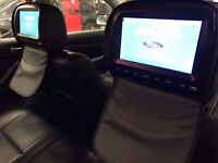 Biult in Leather Headrest Dvd Player Monitor Entertainment - MINT CONDITION