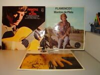 THREE RARE COLLECTIBLE FLAMENCO GUITAR ALBUMS BY MANITAS DE PLAYA ALL VINYLS ARE NEAR MINT