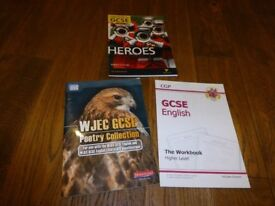 GCSE English language and literature practice book plus 2 other books