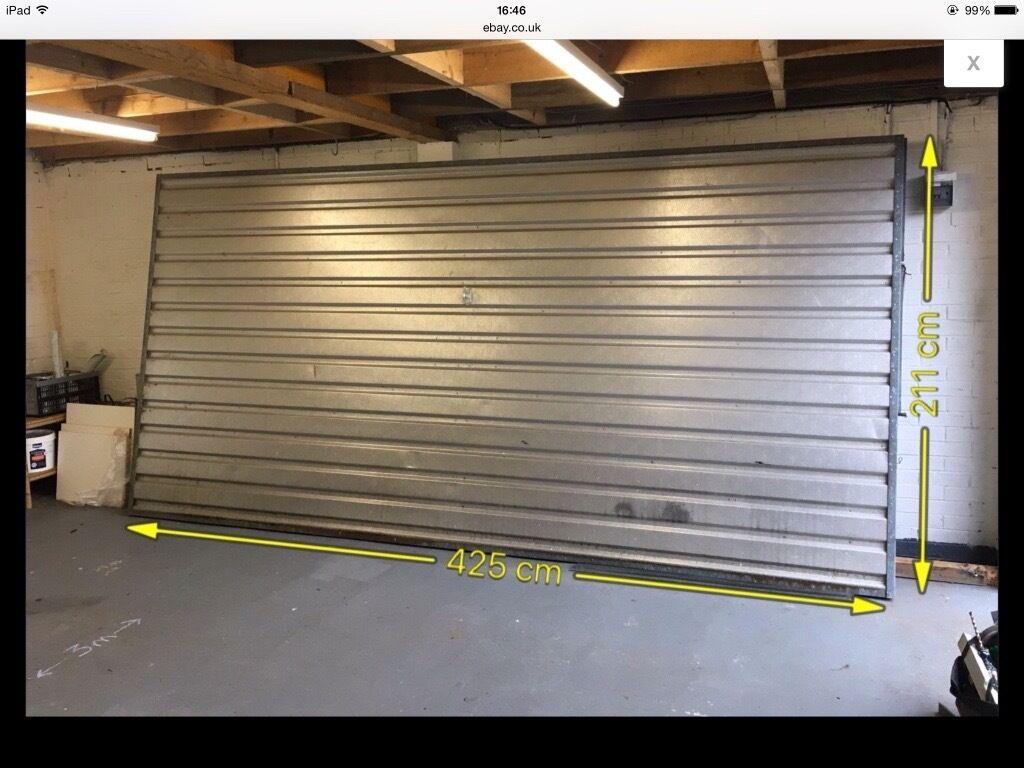 Up and over garage door - Large Double Aluminium Up And Over Garage Door 4m X 2m Nr Chirnside