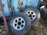 Mitsubishi l200 alloy rims with mud tyres x2