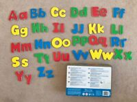 Melissa & Doug 52 Magnetic Wooden Letters Upper Case Lower Case Educational Toy