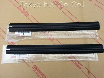 Toyota Corolla CP Coupe AE86 Door Glass Run Front LH +RH set Genuine OEM Parts