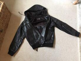 Aviatrix Men's Dark Brown Leather Jacket Small