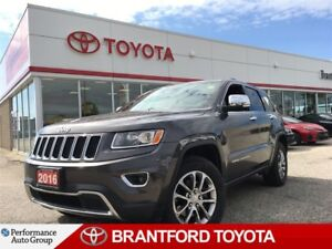 2016 Jeep Grand Cherokee Limited, Leather, Sunroof, BU Camera, A