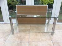 Glass display units x coffee table 2 shelf and 4 shelf units.