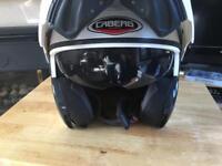 Caberg open face aviator motor bike helmet