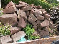 Used sandstone walling