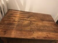Very Large Heavy Pine coffee Table 42 inches wide 29 inches long x