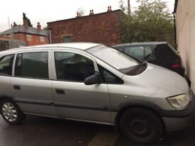 VAUXHALL ZAFIRA 1.8 GOOD CONDITION, 7 Seater, Quick sale