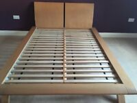 House of Fraser oak double bed frame