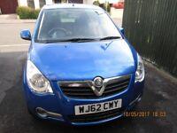 S.E.1.2 Vauxhall Agila. Excellent condition. Sept 2012. Metallic blue.