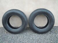2 TYRES FOR SALE IDEAL FOR TRAILER 165X13 6PLY