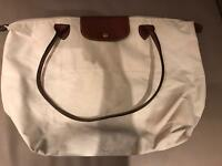 Longchamp white bag - medium size