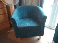 chair and matching ottaman teal