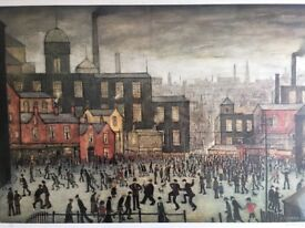 Out Town LS Lowry limited edition print signed