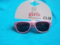 New TU Girls Pink Glitter Sunglasses IP1
