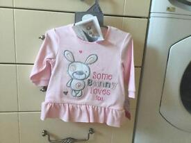Pitter Patter top aged 3 to 6 months New with Tags