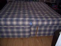 Super King Size Bed Divan & Mattress 200 x 180