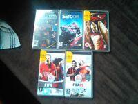 PSP games x5