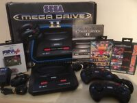 SEGA Mega Drive II Console in Original Box + 2 Official SEGA Controllers + 7 Games + All Leads