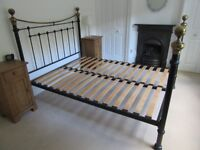 King size metal bed from Feather & Black