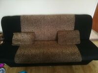 Click clack 3 seater sofa bed with storage + 2 cushions