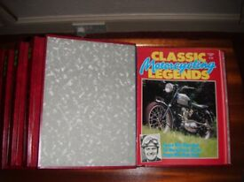 """Complete Set of """"Classic Motorcycling Legends"""" in Ring Binders"""