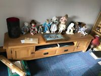 Glass cabinet/dresser/ornaments/flowers/tv stand/kokeshi/French antique cabinet/chest/lamps etc