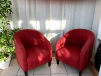 Pair of tub chairs
