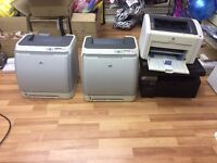 HP Spare or Repair - Printers Various = include x2 2600N All printer for £40