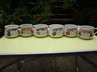Soup bowls, set of 6 lovely soup bowls