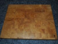 Heavy solid wooden chopping board