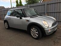 Mini one 2003 plate 1.6 petrol Silver Low Mileage-88621 Mot-6months(29Jan 2018)