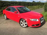 2006 AUDI A4 2.0 TDI 140 BHP SLINE ALL USUAL SLINE FEATURES MAY PART EXCHANGE FINANCE FROM £156 P/M