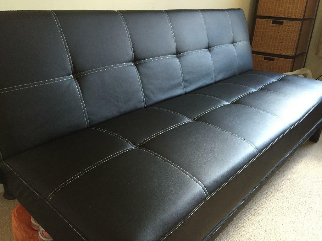 Black fold down couch in clapham junction london gumtree for Sofa bed gumtree london