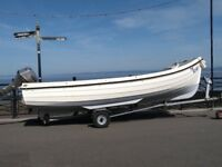 Orkney longliner 16 ft open fishing/day boat