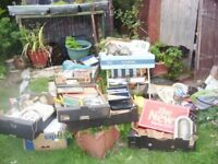 boxes of items from sort out .ideal for boot sale ect no sorting take the lot .