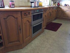Kitchen worktop, units and appliances