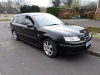 stunning 07 saab 93 1.9 tid in metallic black low miles with full service history perfect family car
