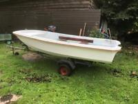 Dell quay dory 11ft double skinned plus outboard and trailer