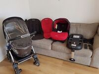 Silvercross Wayfarer complete travel system with loadsa extras plus car seat and ISOFIX BASE